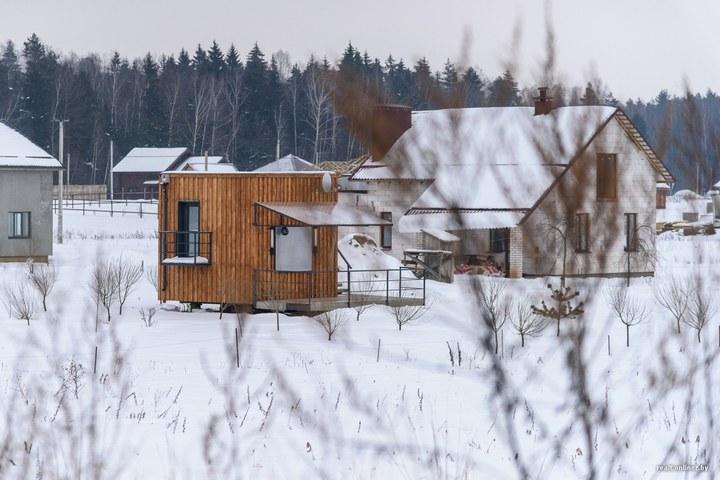 Втроем на 16 квадратных метрах. Семья живет в микродоме под Минском (1)