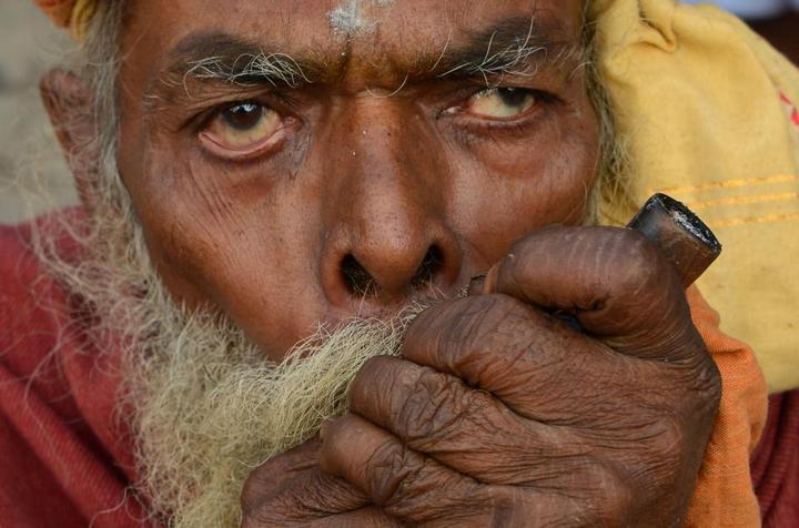 Колоритные портреты индуистских паломников (17)
