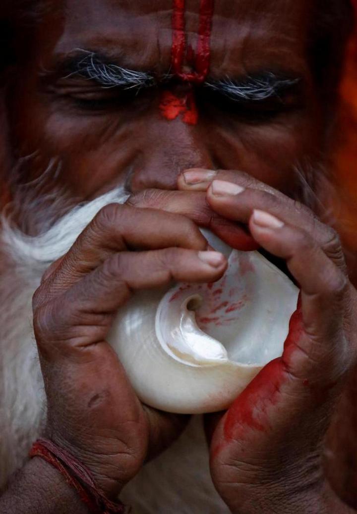 Колоритные портреты индуистских паломников (7)