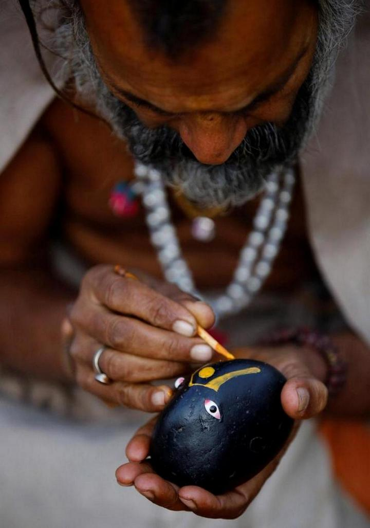 Колоритные портреты индуистских паломников (6)