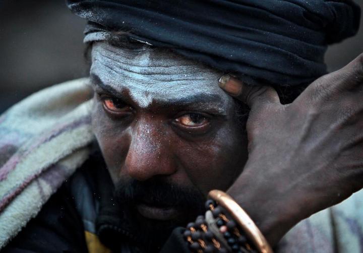 Колоритные портреты индуистских паломников (4)