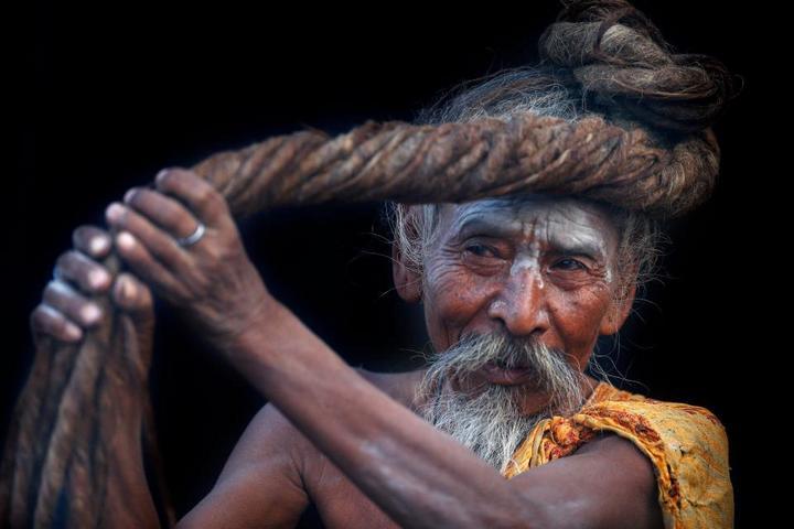 Колоритные портреты индуистских паломников (1)