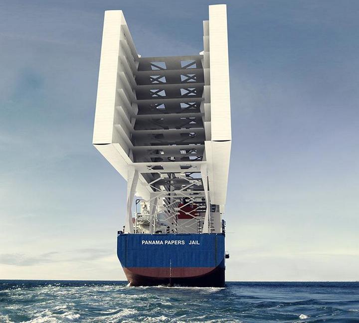 Французские архитекторы разработали проект тюрьмы-корабля (4)
