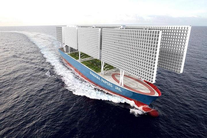 Французские архитекторы разработали проект тюрьмы-корабля (6)