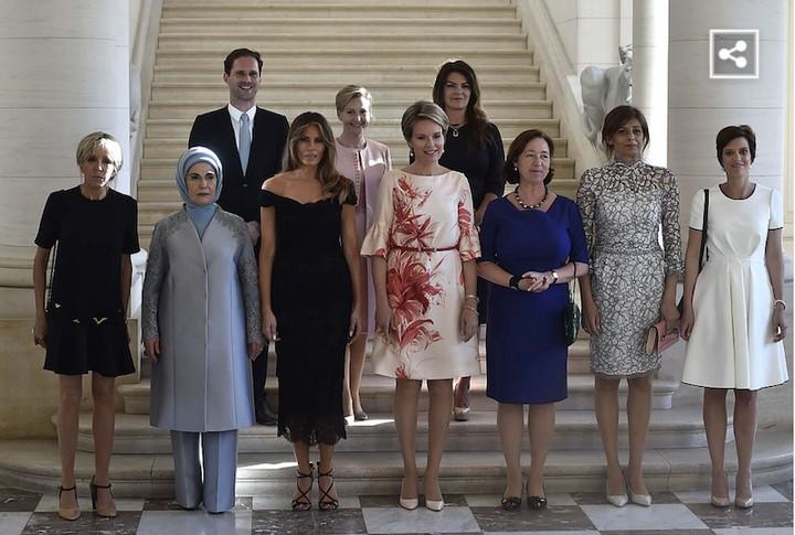 Первые леди. Совместное фото