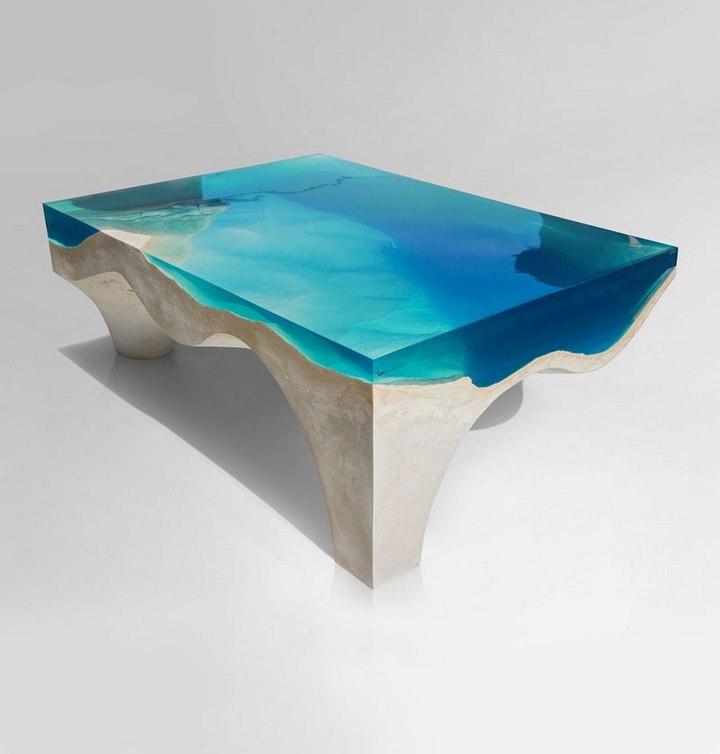 Удивительная мебель из стекла и мрамора (2)