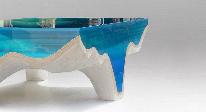 Удивительная мебель из стекла и мрамора (4)