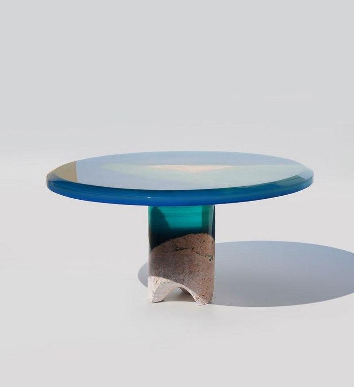 Удивительная мебель из стекла и мрамора (6)