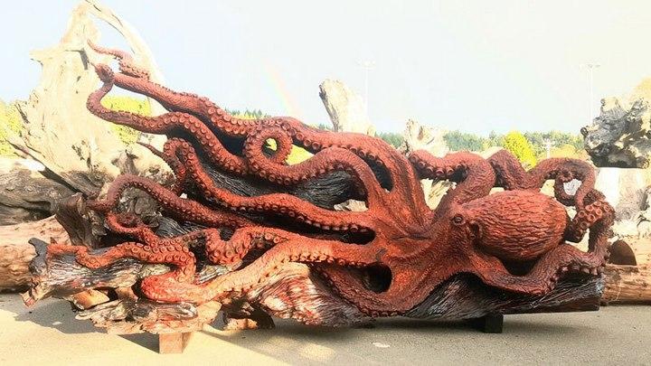 Превращение корня дерева в гигантского осьминога (13)