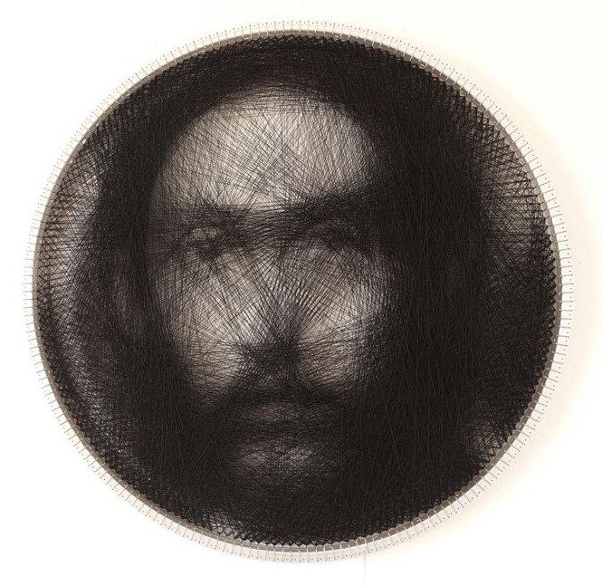 Портреты, созданные при помощи одной нити длиной в 2 км (1)