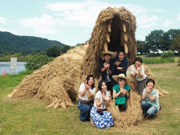 Потрясающие скульптуры из соломы от японских студентов (11)