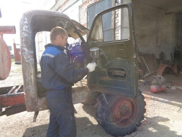 Возрождение старого пожарного ГАЗа из 1960-х (5)