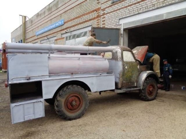 Возрождение старого пожарного ГАЗа из 1960-х (8)