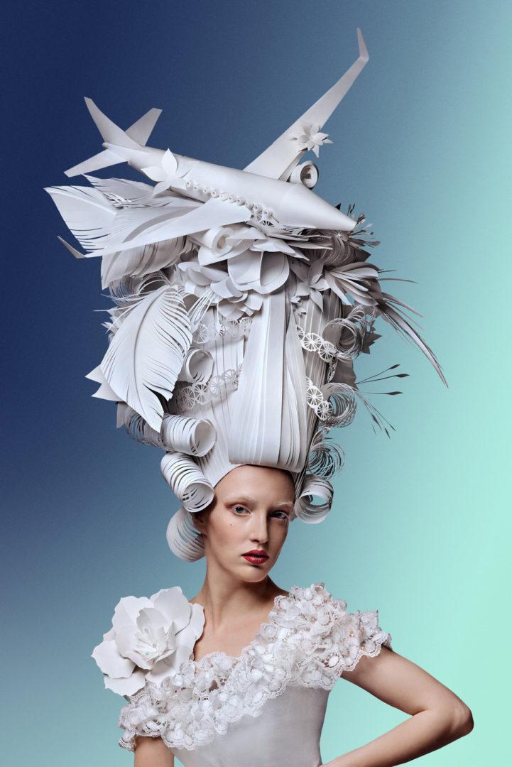 Гигантские парики из бумаги (1)
