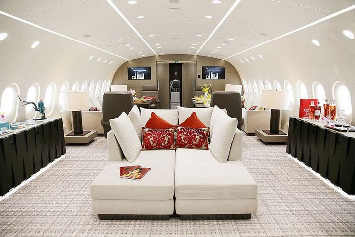 Boeing 787-8 Dreamliner с шикарным интерьером (3)