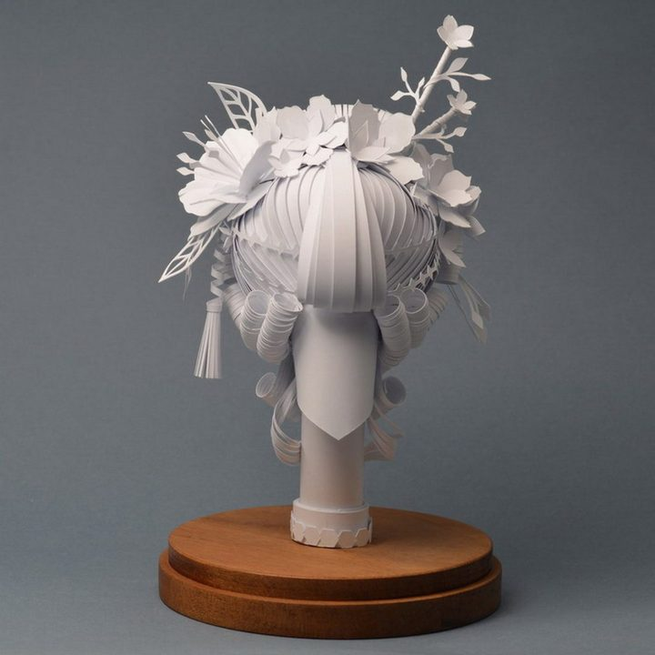 Гигантские парики из бумаги (3)