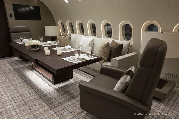 Boeing 787-8 Dreamliner с шикарным интерьером (7)