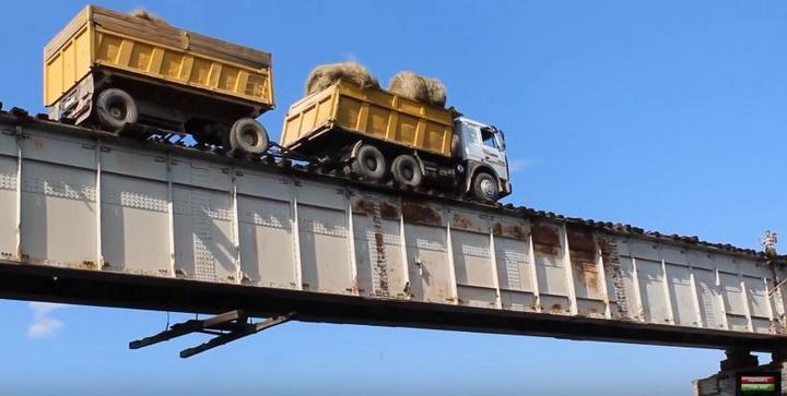 Экстремальнай мост в Сибири