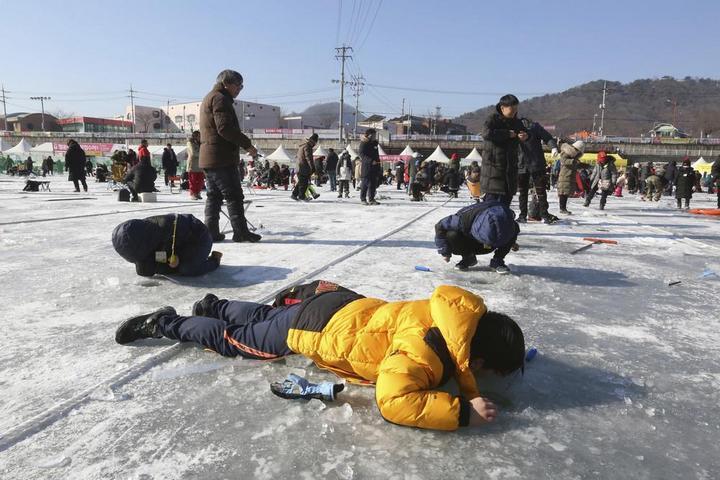 Соревнования по ловле форели в Южной Корее (4)