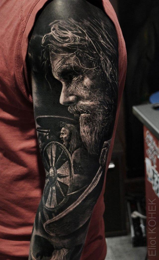 Реалистичные 3D татуировки от Eliot Kohek (5)