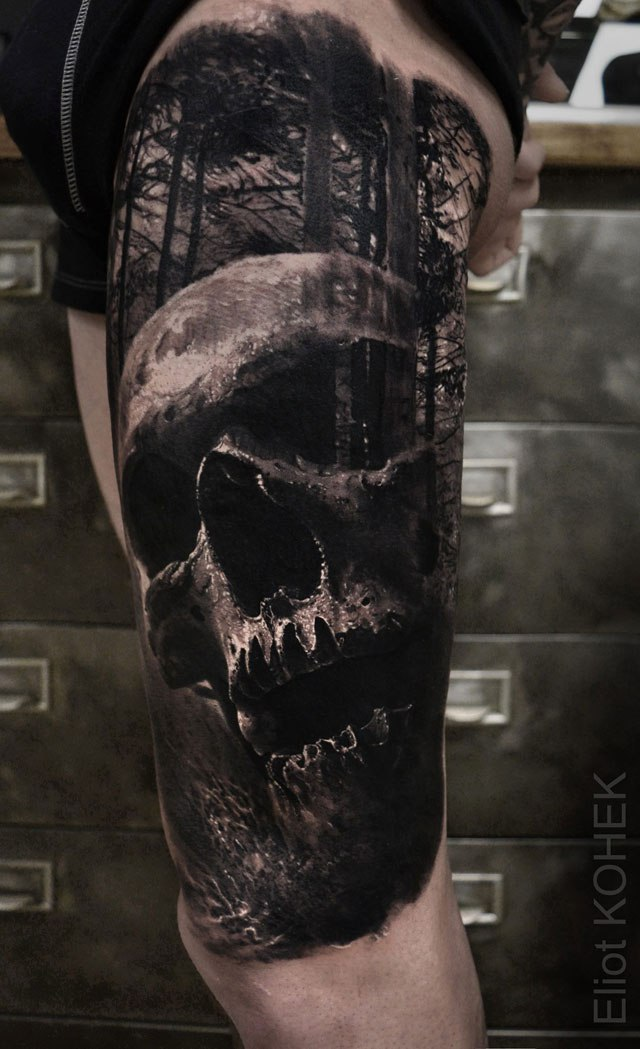 Реалистичные 3D татуировки от Eliot Kohek (3)