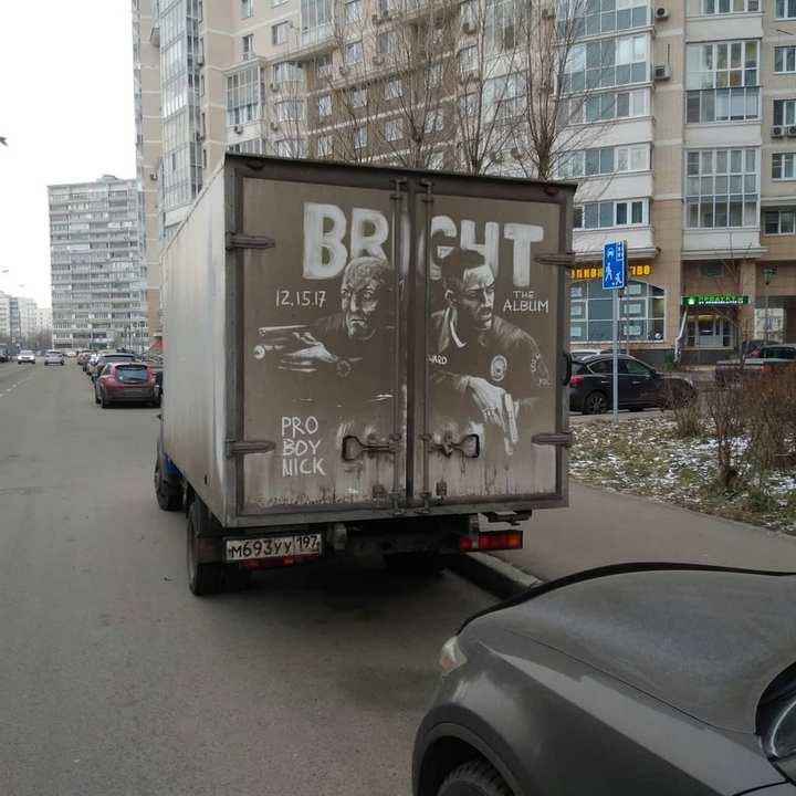 Крутые рисунки на грязных грузовиках (9)