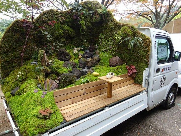 Сад в кузове грузовика? Это Япония, детка (1)