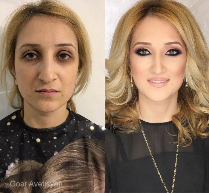 Как косметика в руках профессионал преображает любую женщину (6)