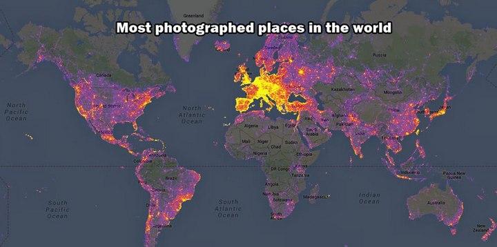 Самые фотографируемые места в мире