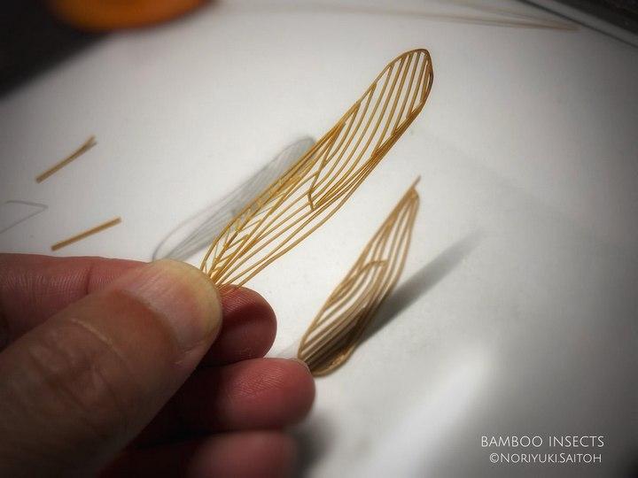 Деревянные скульптуры насекомых от Noriyuki Saitoh (10)