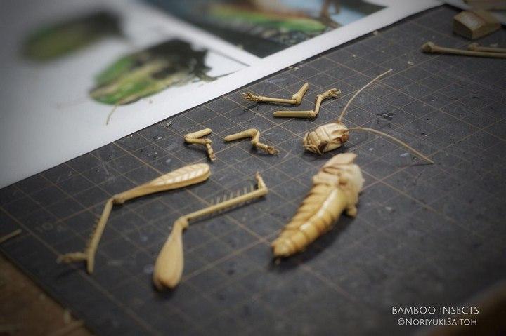 Деревянные скульптуры насекомых от Noriyuki Saitoh (11)