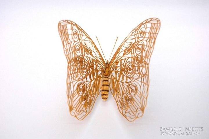 Деревянные скульптуры насекомых от Noriyuki Saitoh (12)
