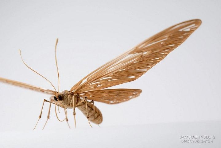 Деревянные скульптуры насекомых от Noriyuki Saitoh (17)