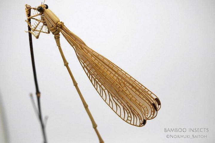 Деревянные скульптуры насекомых от Noriyuki Saitoh (18)