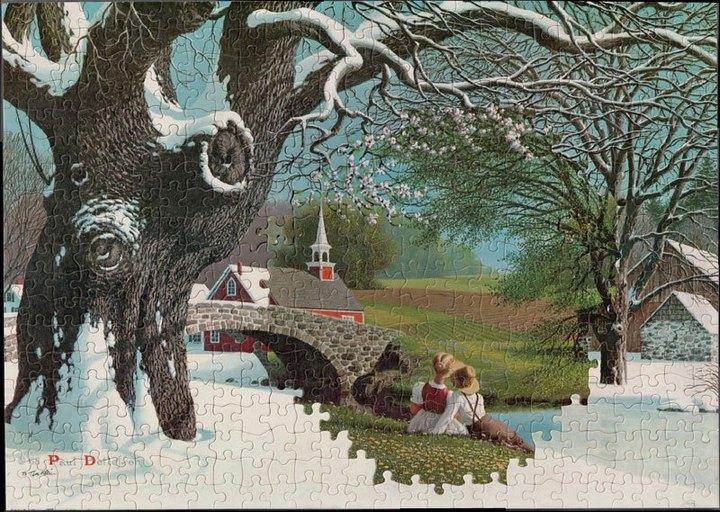 Необычные картинки собранные из разных пазлов (2)