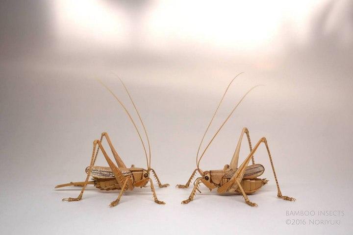 Деревянные скульптуры насекомых от Noriyuki Saitoh (20)