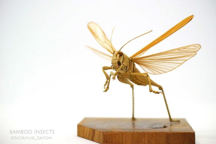 Деревянные скульптуры насекомых от Noriyuki Saitoh (3)