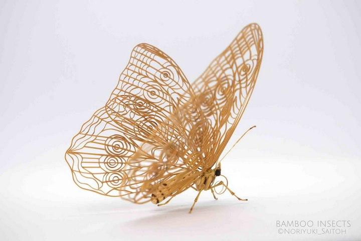 Деревянные скульптуры насекомых от Noriyuki Saitoh (4)