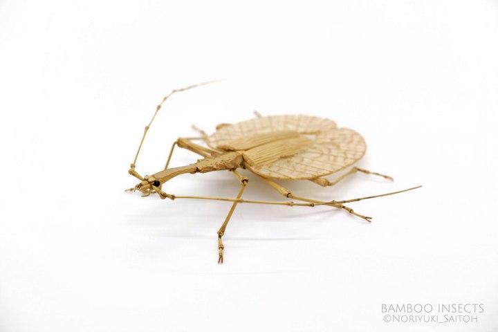 Деревянные скульптуры насекомых от Noriyuki Saitoh (8)