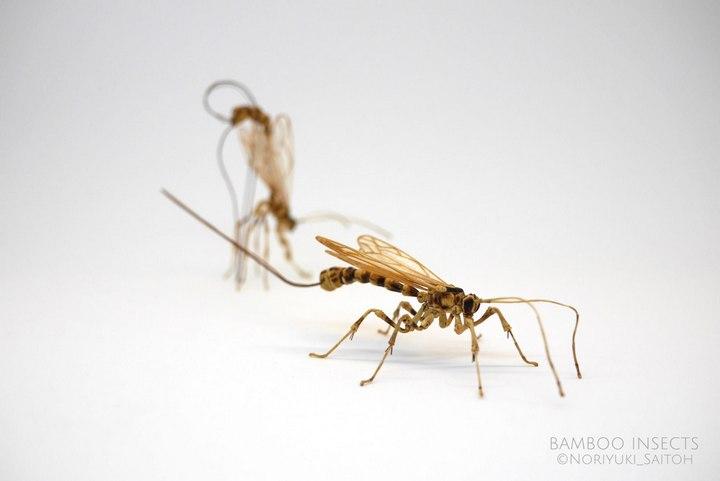 Деревянные скульптуры насекомых от Noriyuki Saitoh (9)