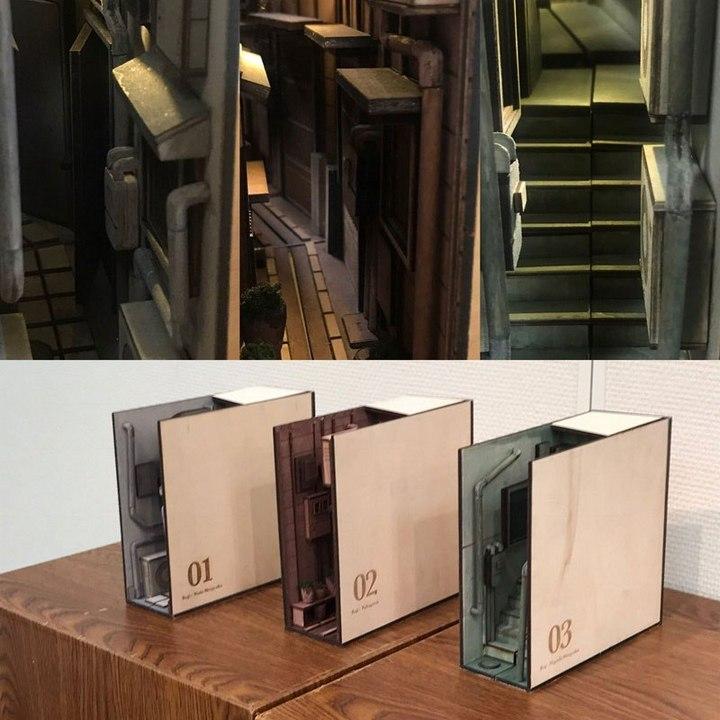 Крутая инсталляция для книжной полки (3)