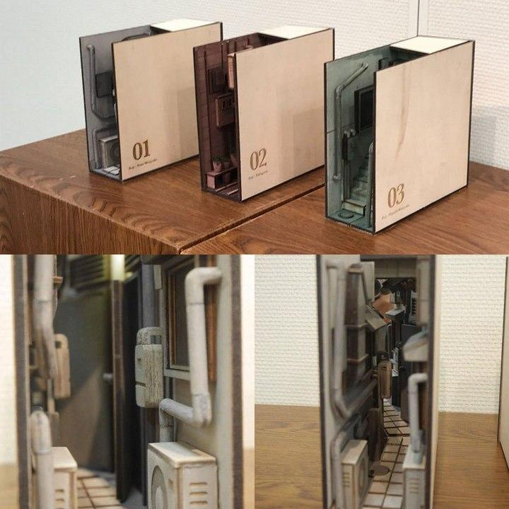 Крутая инсталляция для книжной полки (4)