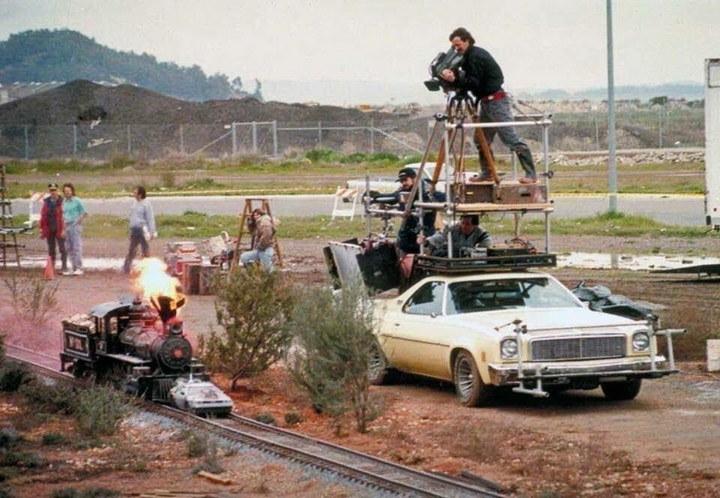 "На съемках фильма ""Назад в будущее 3"", 1989 год."