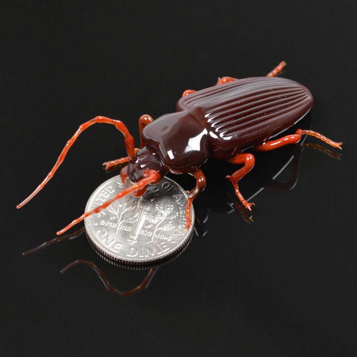 Миниатюрные стеклянные фигурки насекомых Уэстли Флемминга (5)