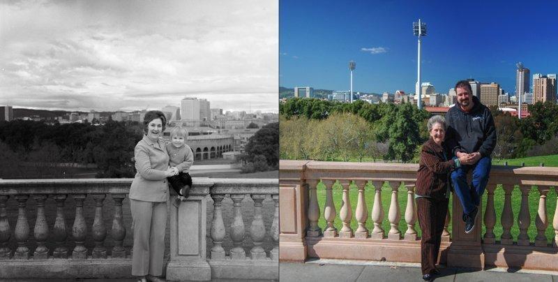 """Фотографии в стиле """"тогда и сейчас"""" (1)"""