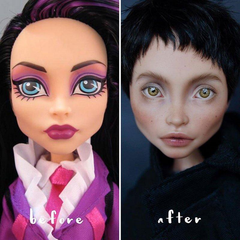 Украинская художница преобразует обычные куклы в реалистичные шедевры (1)