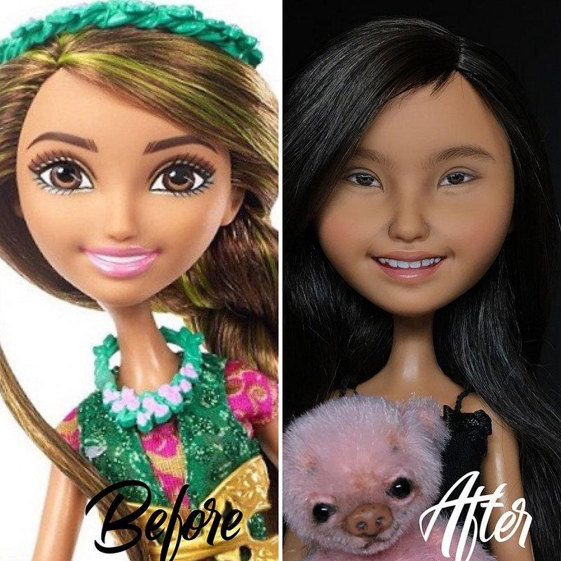 Украинская художница преобразует обычные куклы в реалистичные шедевры (10)