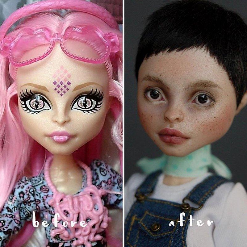 Украинская художница преобразует обычные куклы в реалистичные шедевры (11)