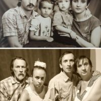 Фотографии в стиле «тогда и сейчас» (18 фото)