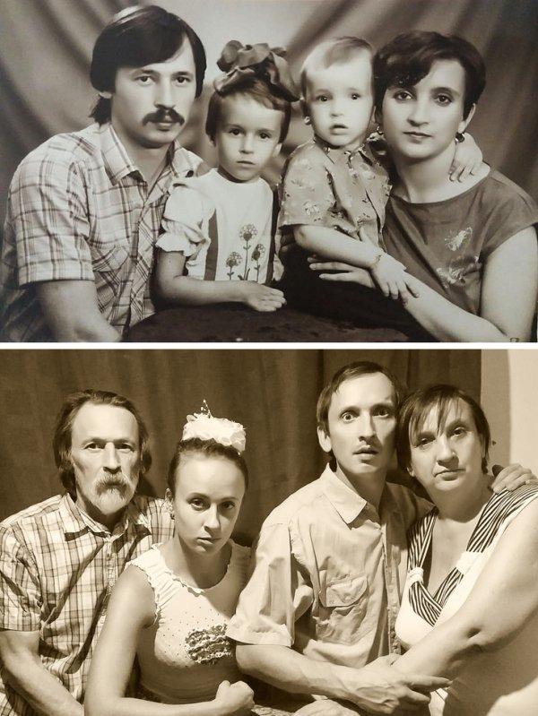 """Фотографии в стиле """"тогда и сейчас"""" (18)"""